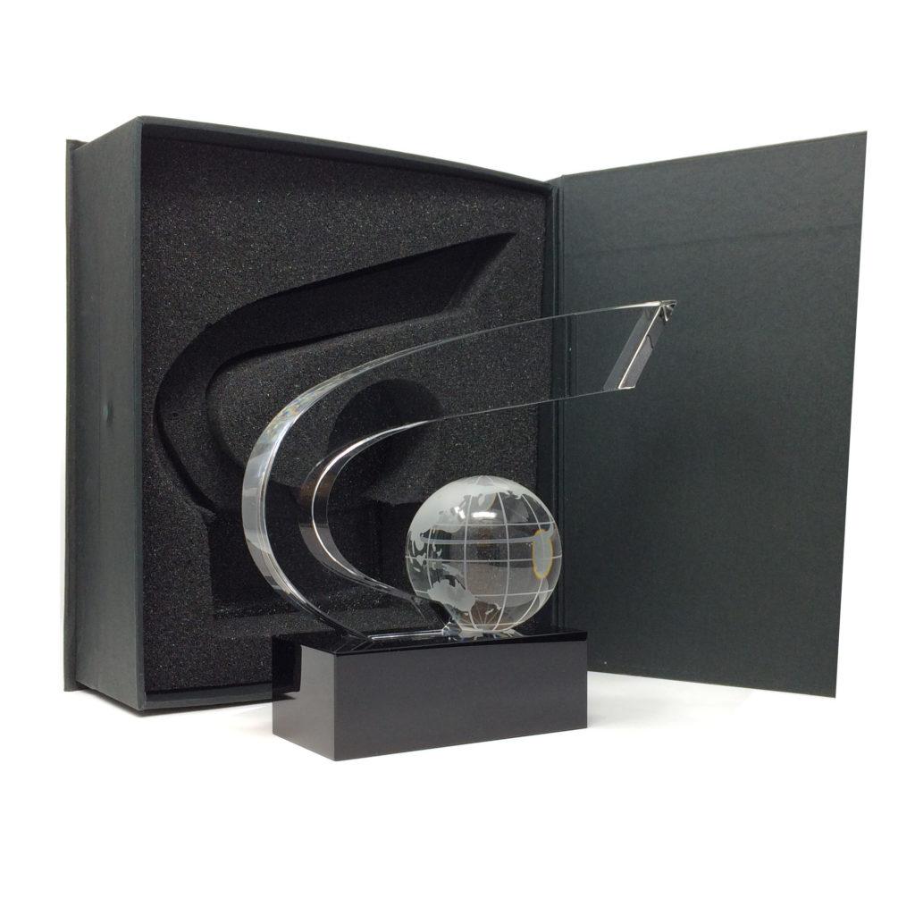 Trophée coupe prestige avec son globe