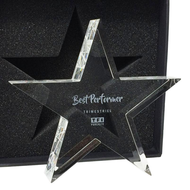 étoile gravure trophée personnalise