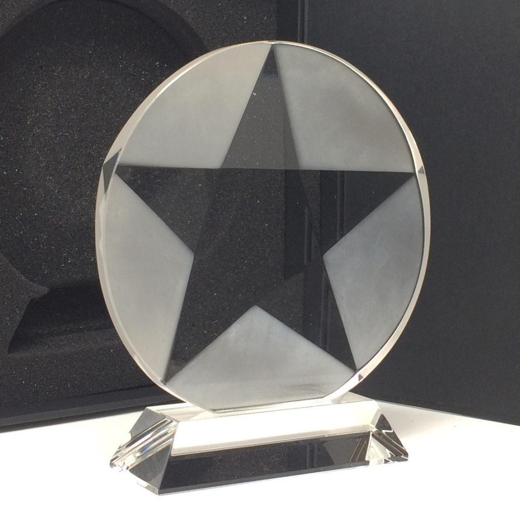 trophée disque avec étoile