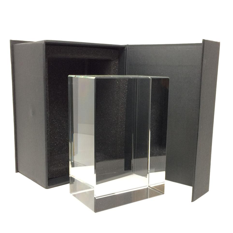 Grand bloc en verre pour gravure promotionnelle