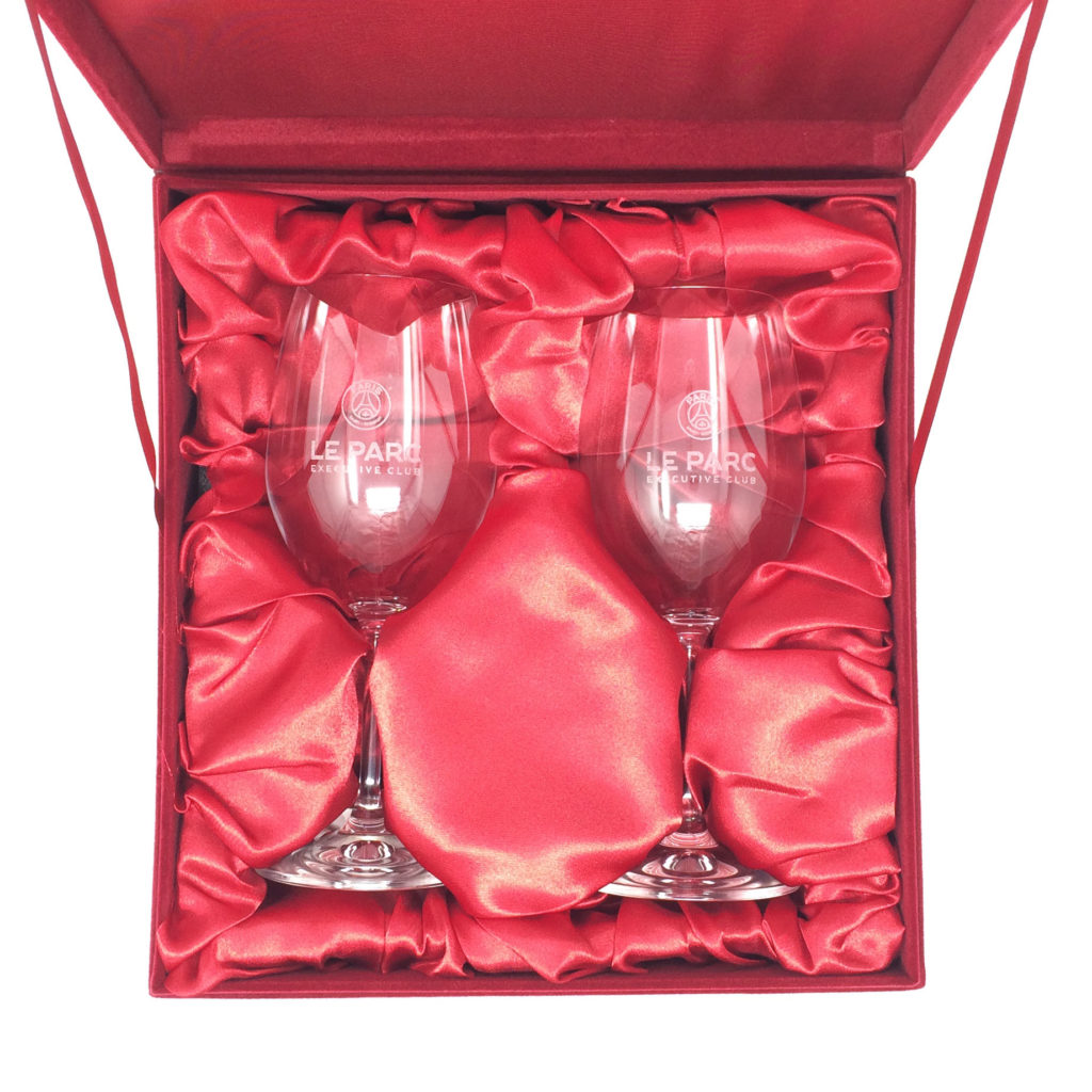 coffret de deux verres à vin promotionnel pour gravure