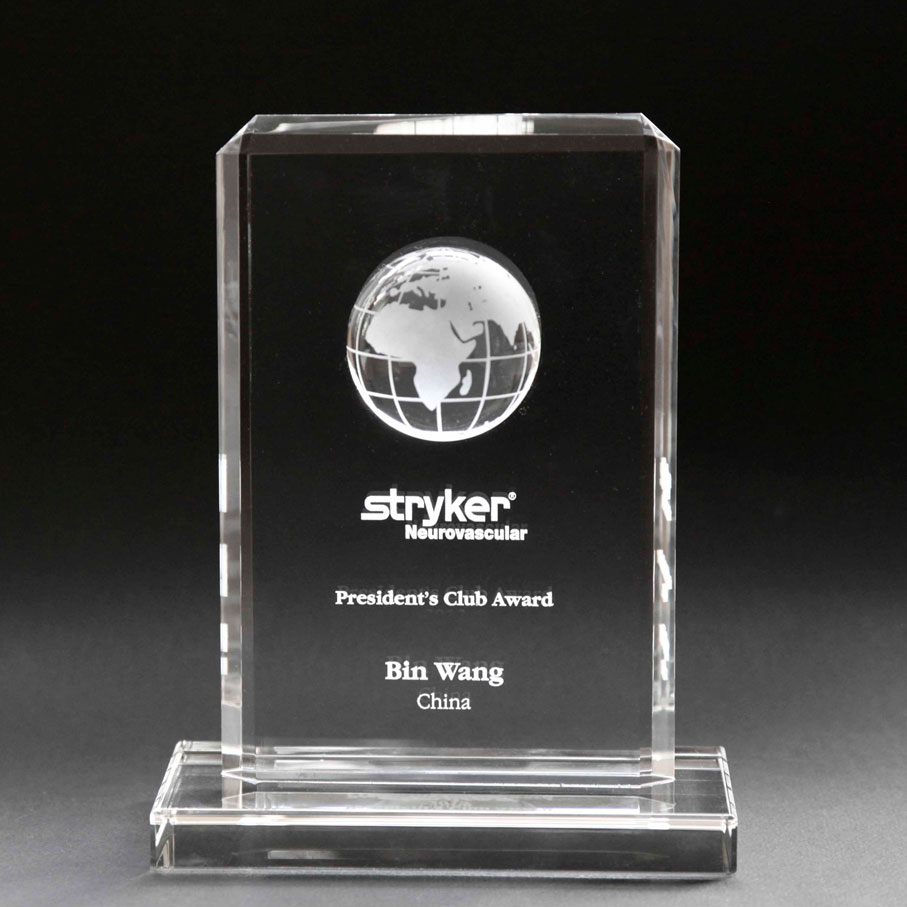 Custom globe award 20cm