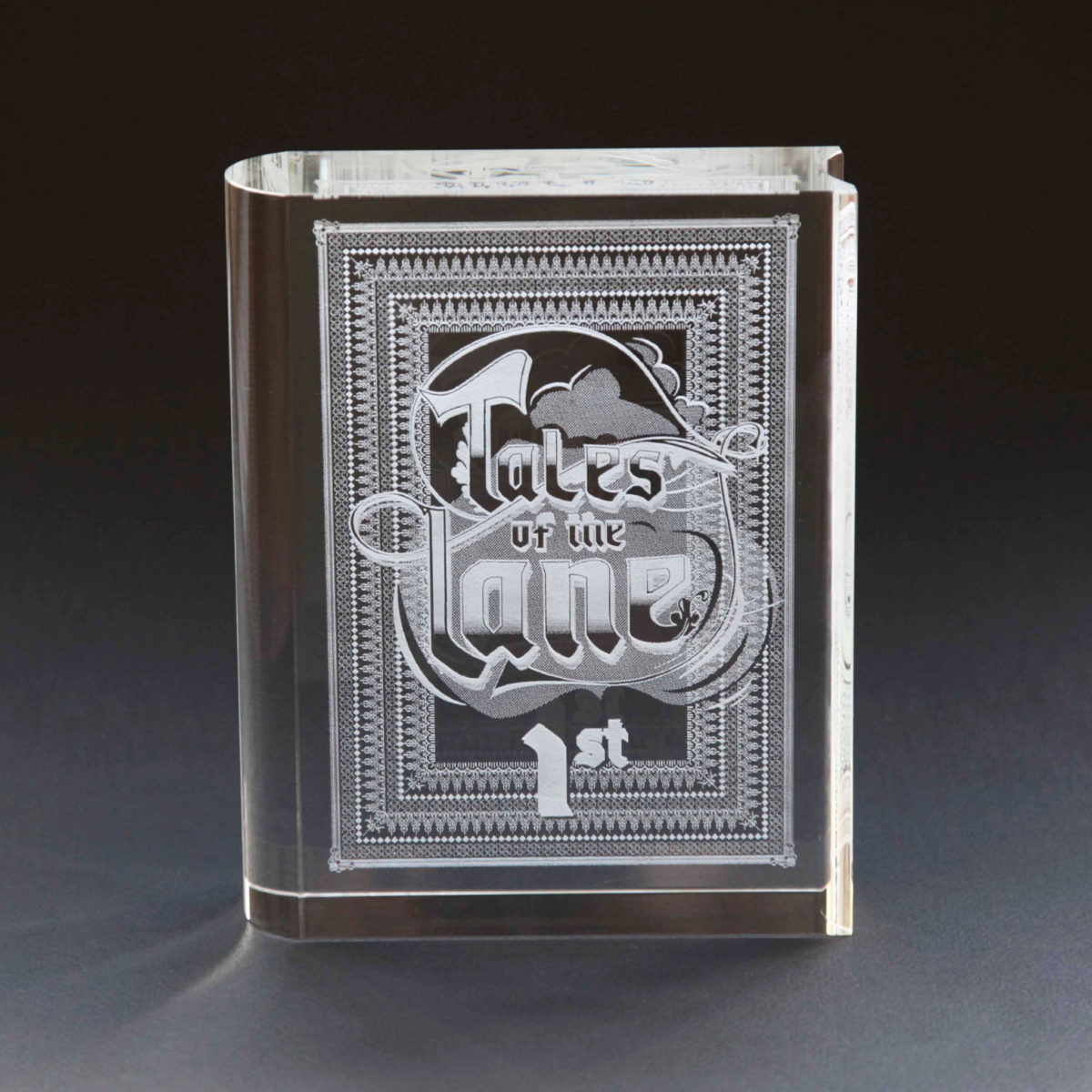Glass book award 15cm