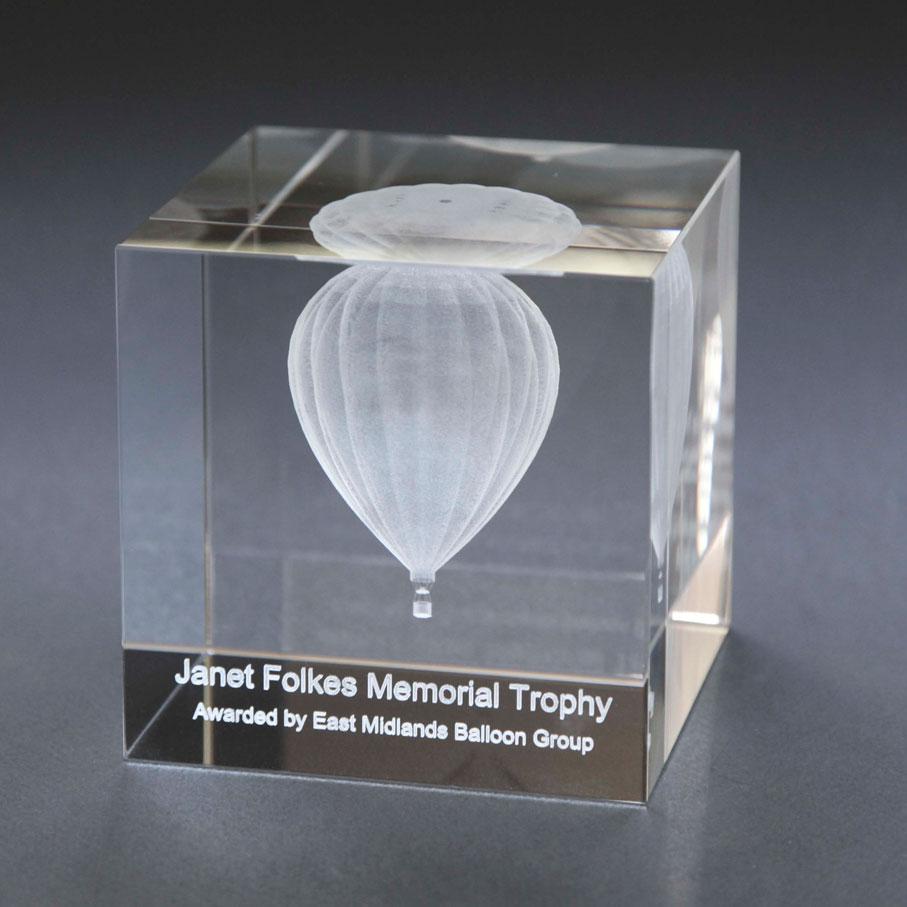 Glass cube award
