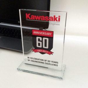 Plaque award with colour 13x18cm