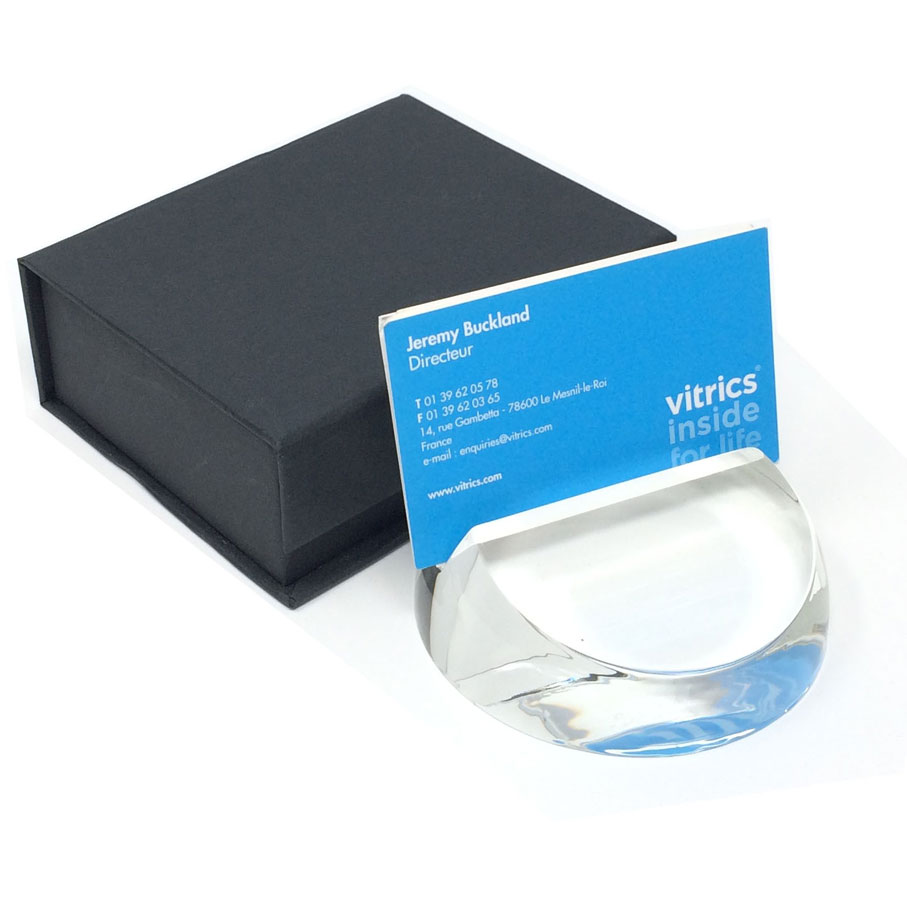 Rounded-business-card-holder