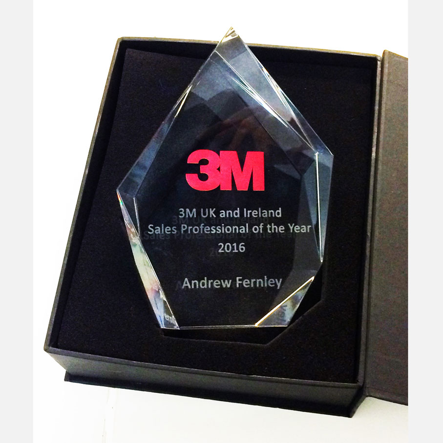 What are the advantages of awards in glass?