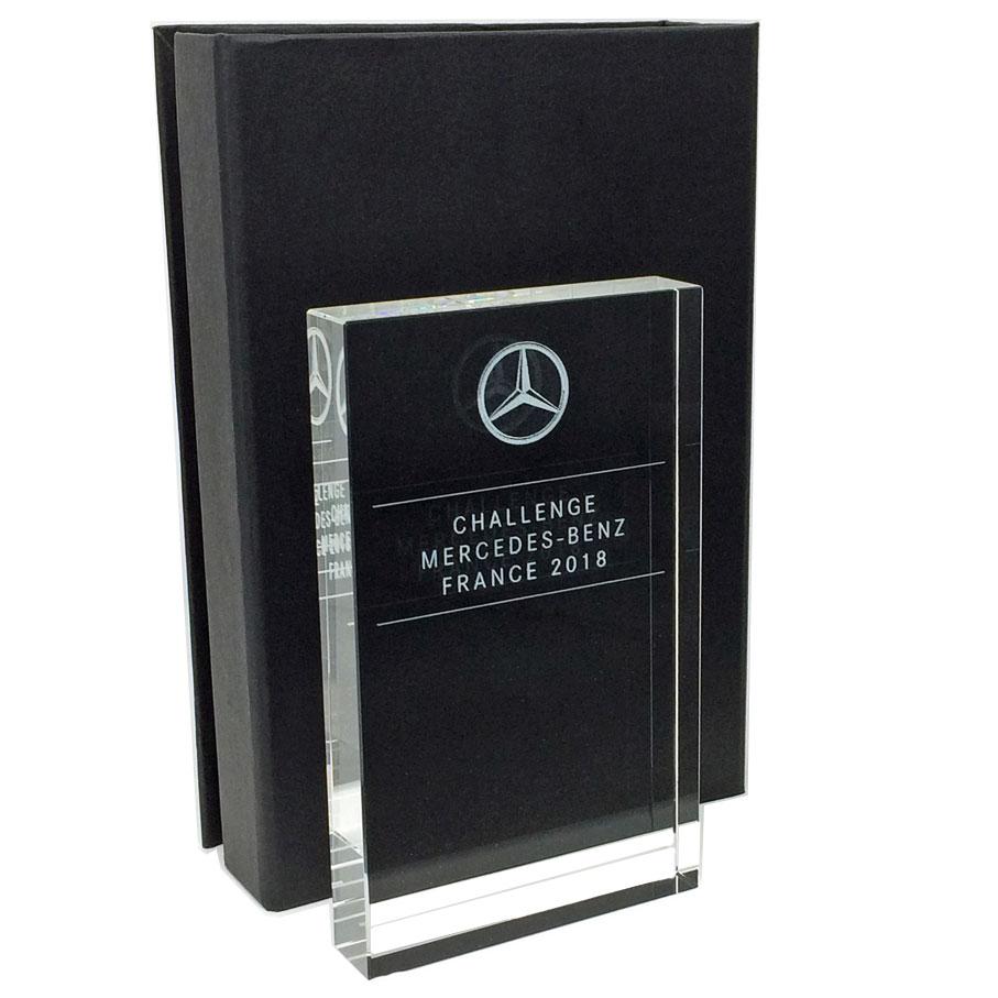 Glass plaque presentation award 15cm